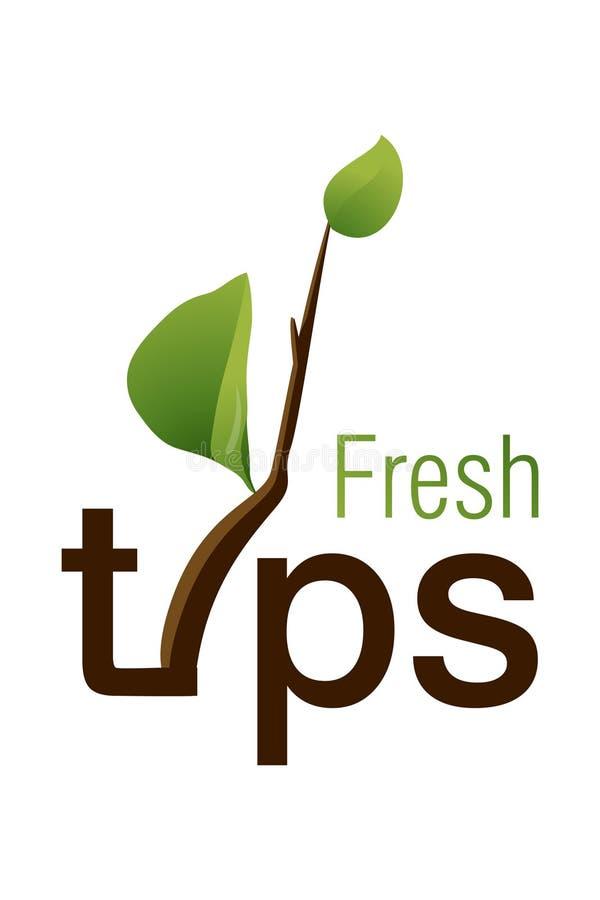Fresh Tips Logo Royalty Free Stock Photo