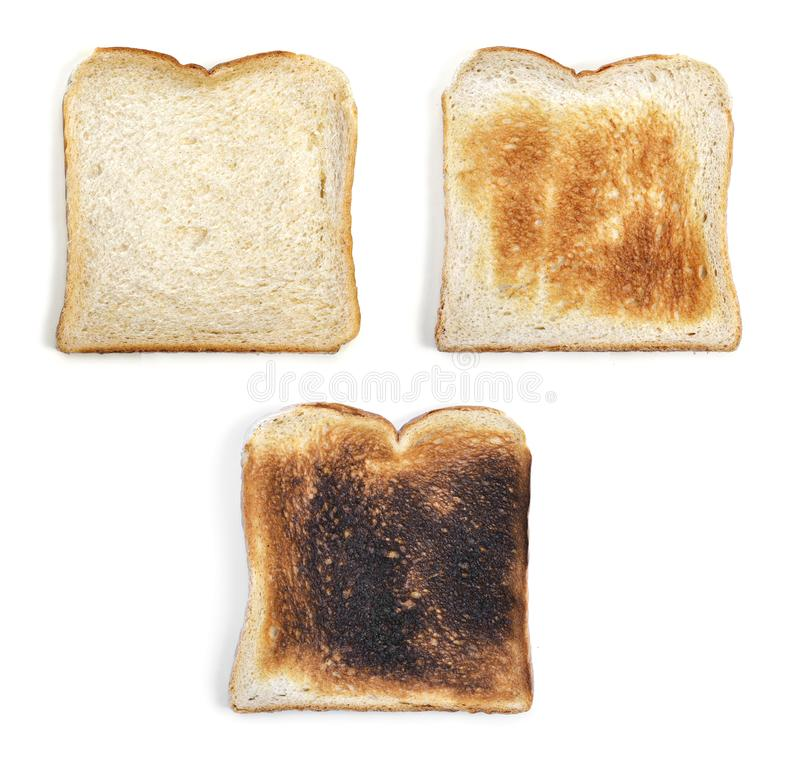 Fresh toast bread or toasted wheat bread slices stock photo