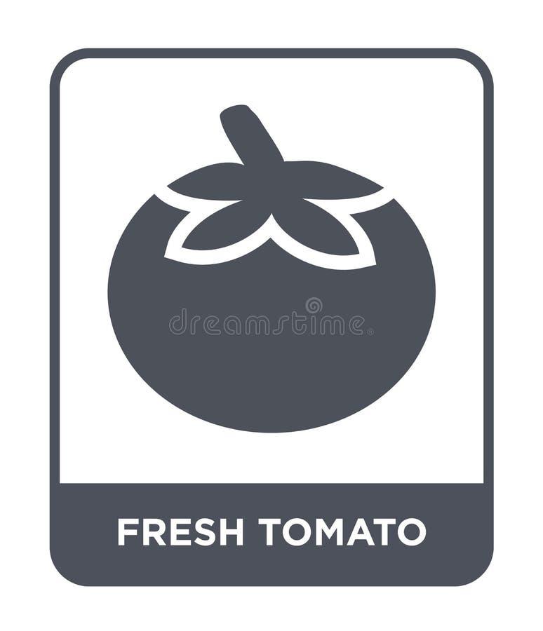 Fresh tomato icon in trendy design style. fresh tomato icon isolated on white background. fresh tomato vector icon simple and. Modern flat symbol for web site stock illustration