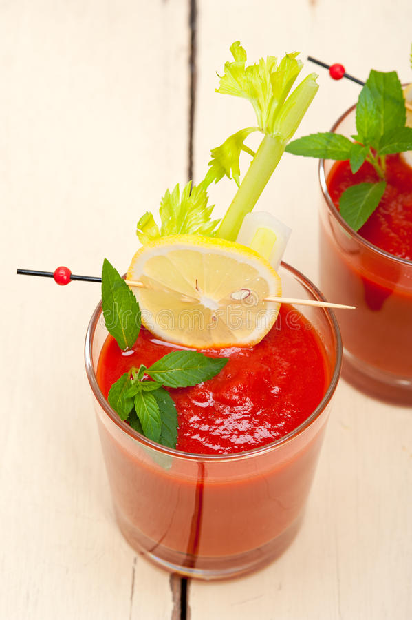 Fresh tomato juice royalty free stock photography