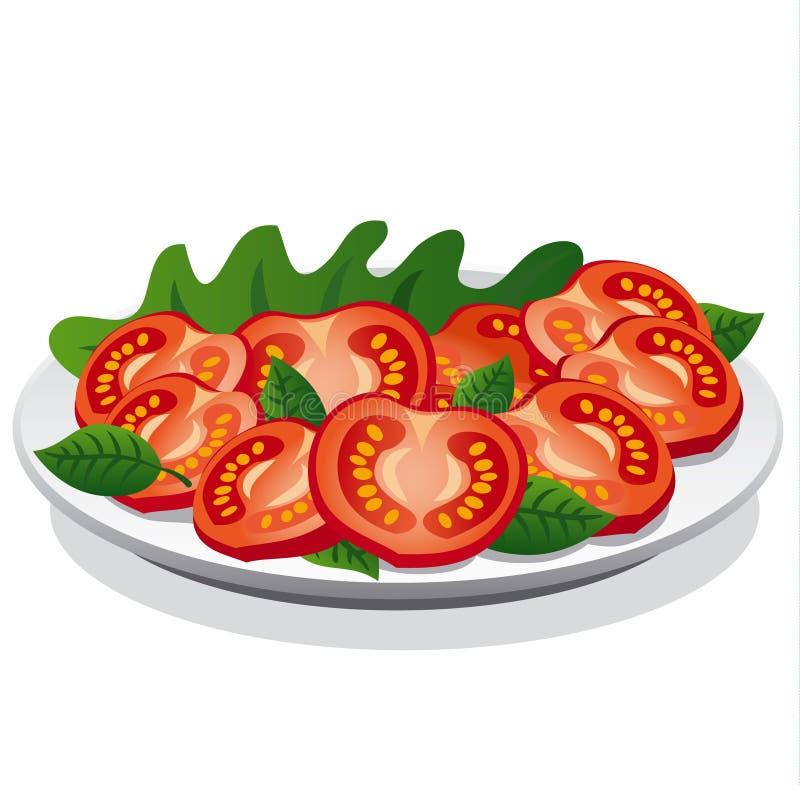 Download Fresh tomato salad stock illustration. Image of herb - 33578519