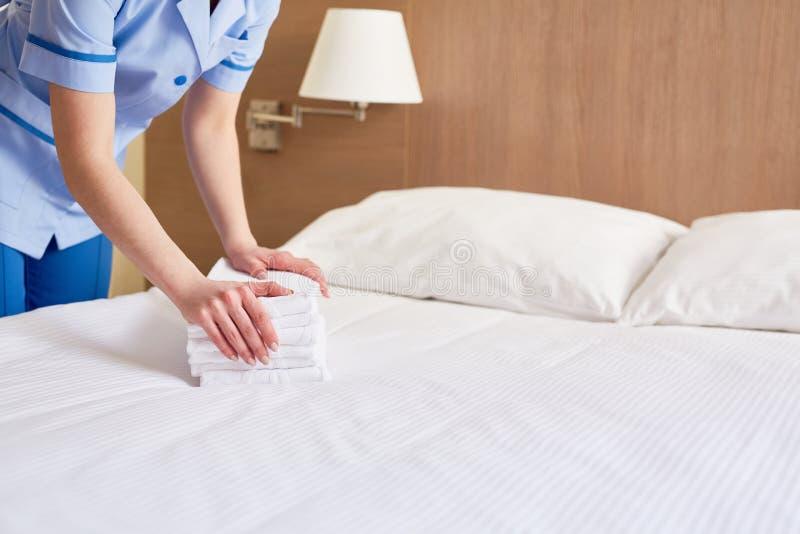 Fresh towels stock image