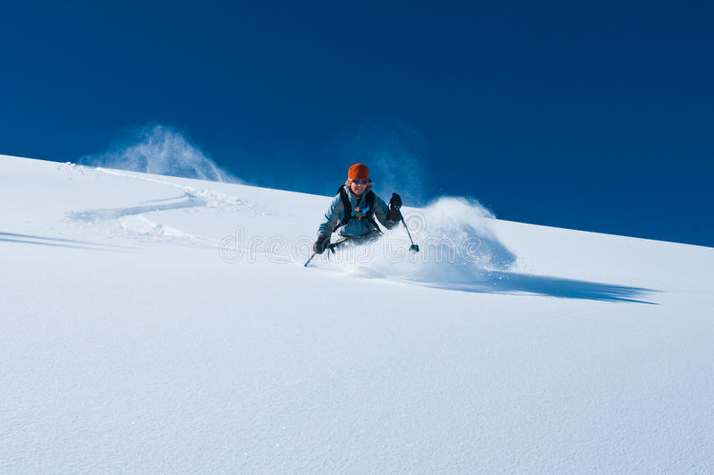 Download Fresh Tracks stock image. Image of outdoor, sport, girl - 18280433