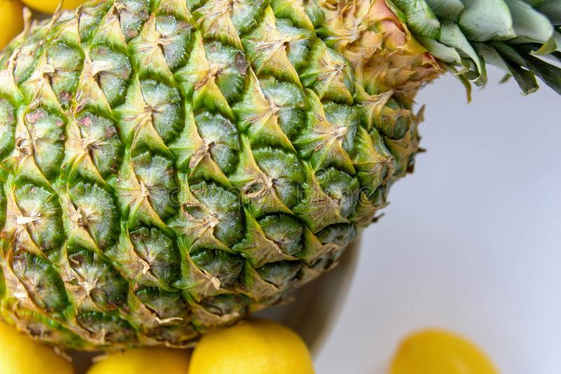 Fresh tropical fruit closeup with space for copy royalty free stock photos