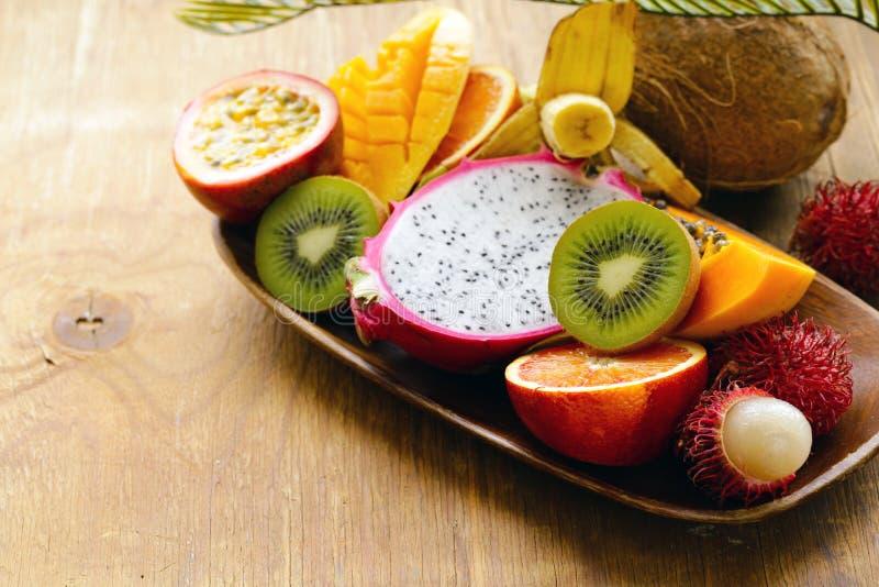 Fresh tropical fruits stock photo