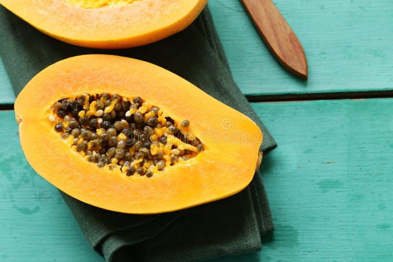 Fresh tropical papaya fruit stock image