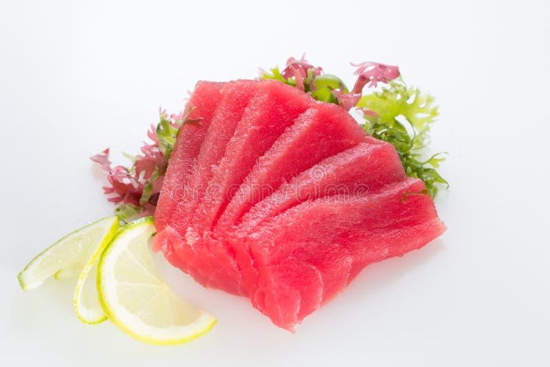 Fresh tuna fillet. On white background stock photography