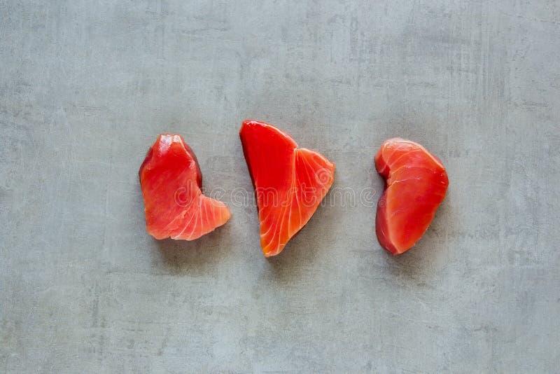 Tuna fish steaks royalty free stock image