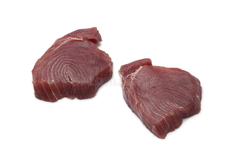Fresh tuna steaks royalty free stock images