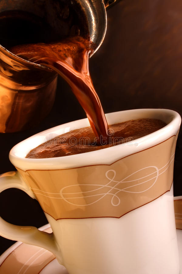 Free Fresh Turkish Coffee. Stock Image - 9893051