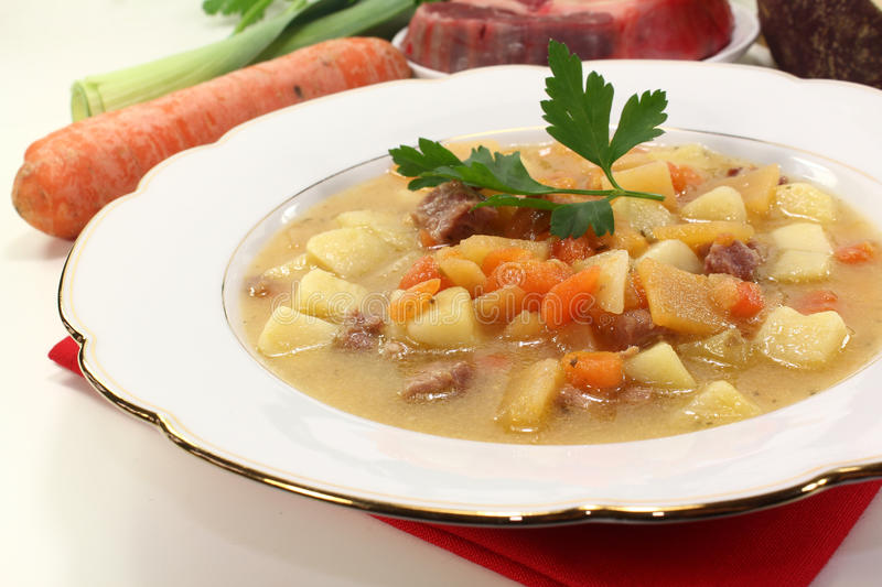 Fresh Turnip stew stock photo