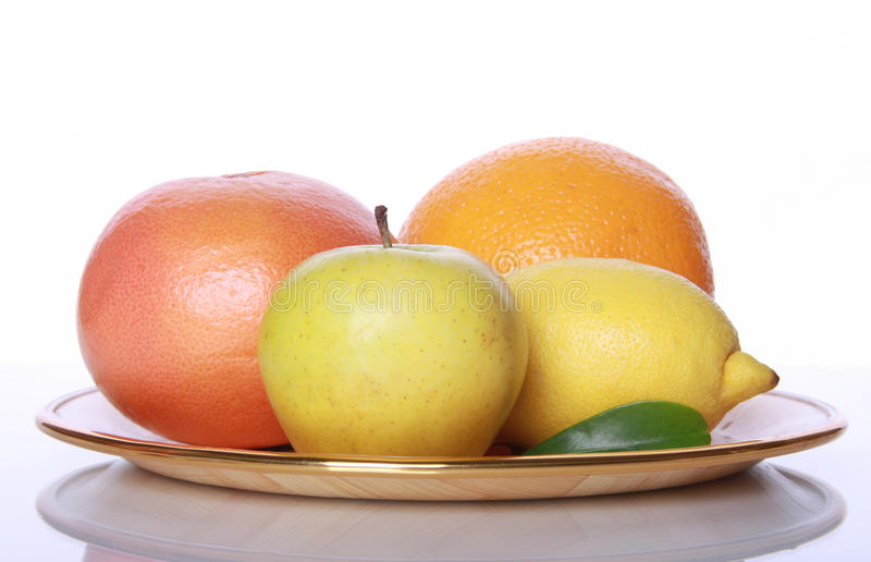 Download Fresh Useful Fruits On Mirror Table Stock Image - Image: 11864391