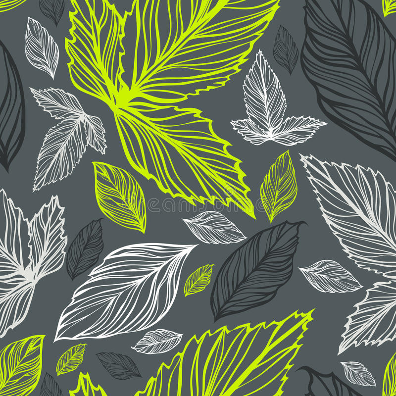 Fresh vector seamless floral pattern with leaves vector illustration