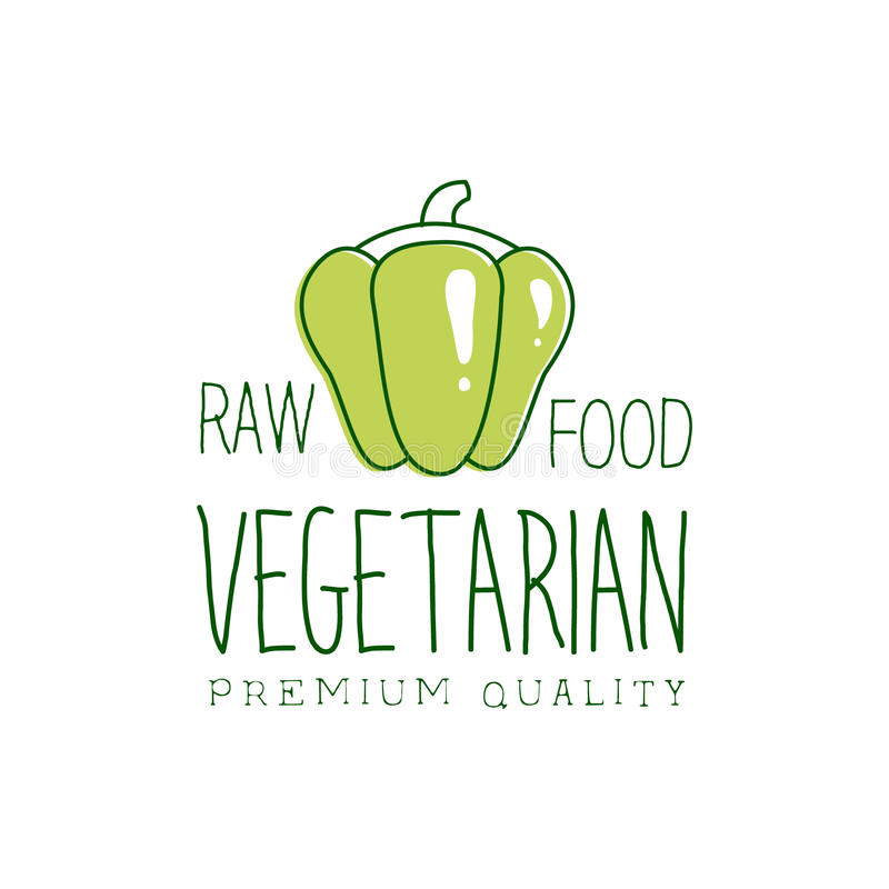 Fresh Vegan Food Promotional Sign With Sweet Pepper For ...