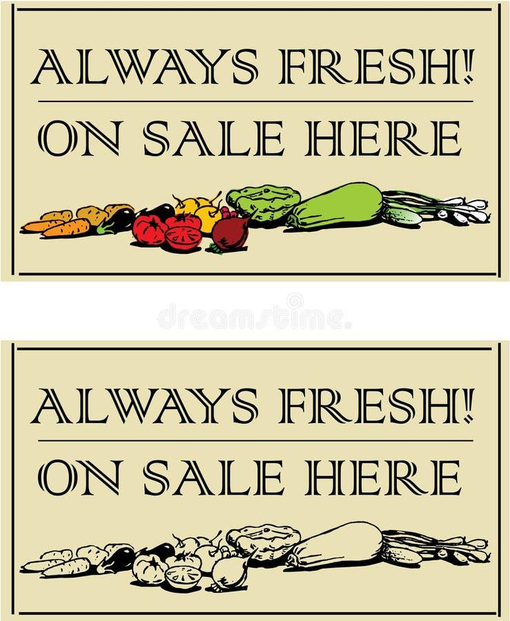 Free Fresh Vegatables - 2 Signboards Royalty Free Stock Photos - 7629378