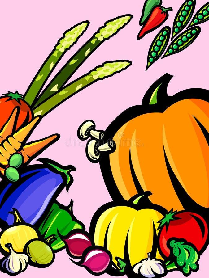 Fresh vegetable background stock illustration