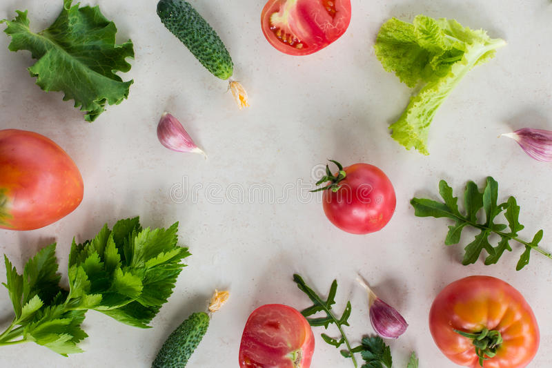 Fresh vegetable pattern royalty free stock photos
