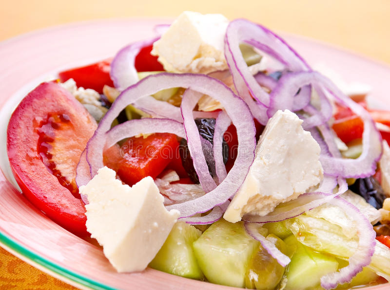 Download Fresh vegetable salad stock photo. Image of onion, feta - 22002482
