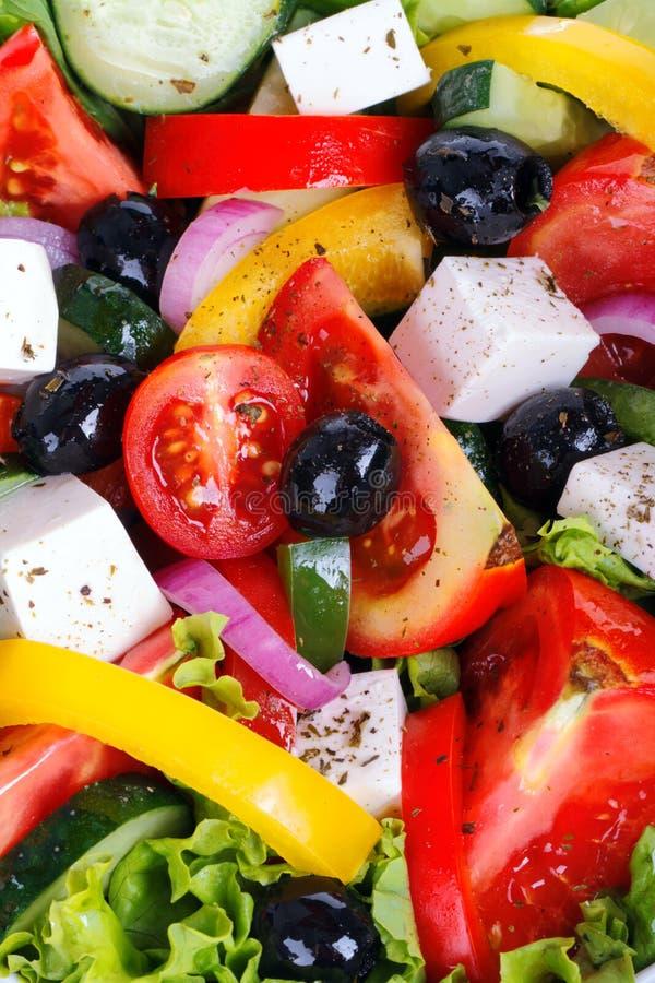 Fresh Vegetable salad (greek salad). Useful vitamin food royalty free stock images