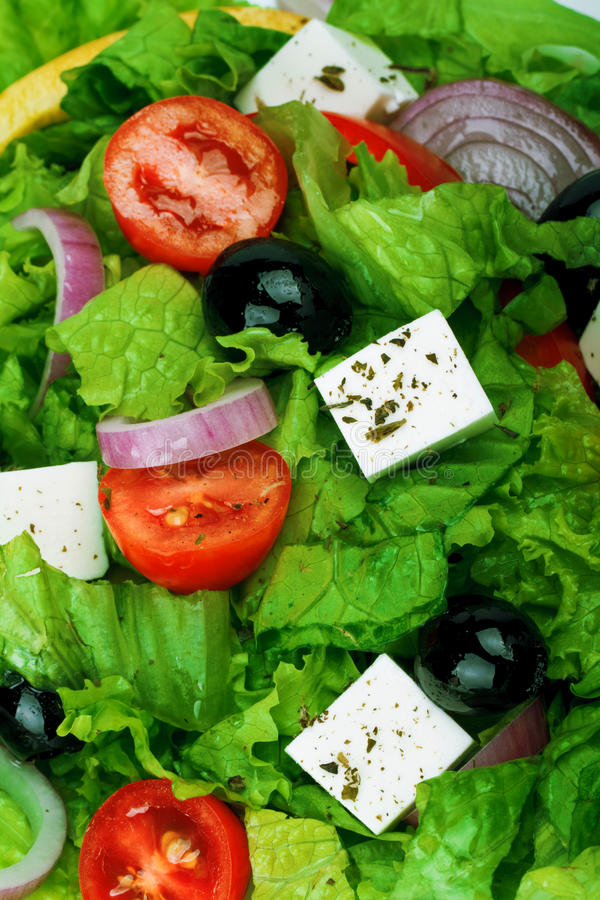 Fresh Vegetable salad (greek salad). royalty free stock photo