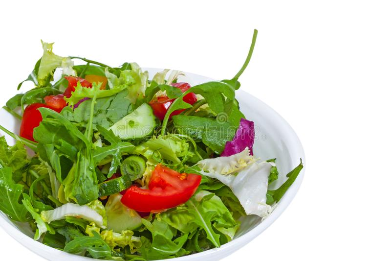 Fresh vegetable salad  in plate stock photography