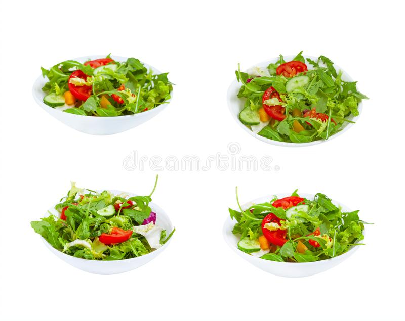 Fresh vegetable salad  in plate royalty free stock photography