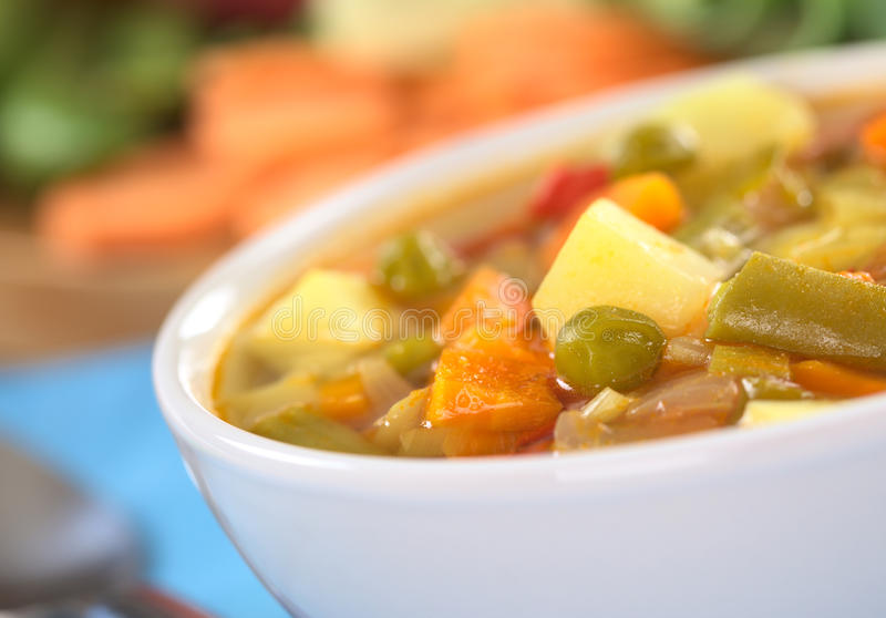 Download Fresh Vegetable Soup stock image. Image of meal, horizontal - 19738989