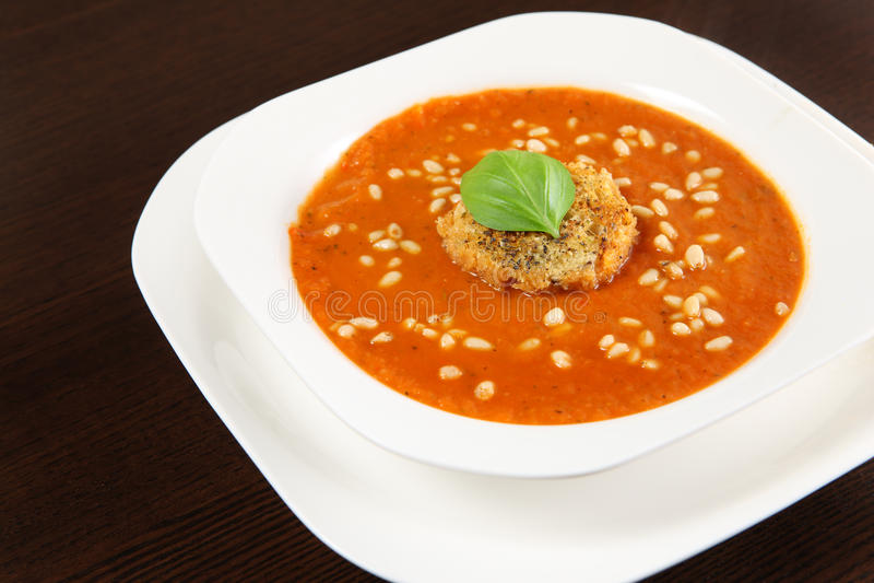 Fresh vegetable soup royalty free stock photos