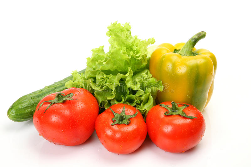 Fresh vegetables. On a white background stock image
