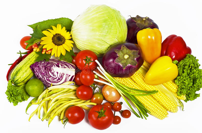 Download Fresh Vegetables stock photo. Image of nature, corn, juicy - 25131538