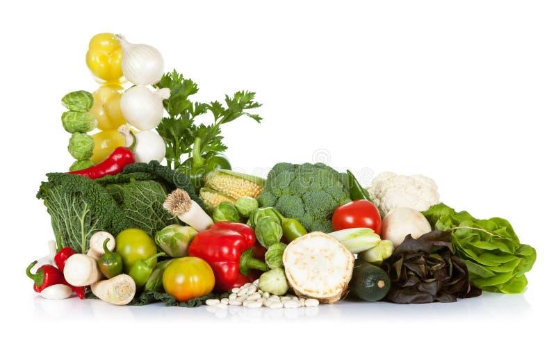 Fresh Vegetables. Fresh raw vegetables composition on white background stock images
