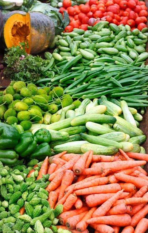 Fresh Vegetables in Asian market stock image