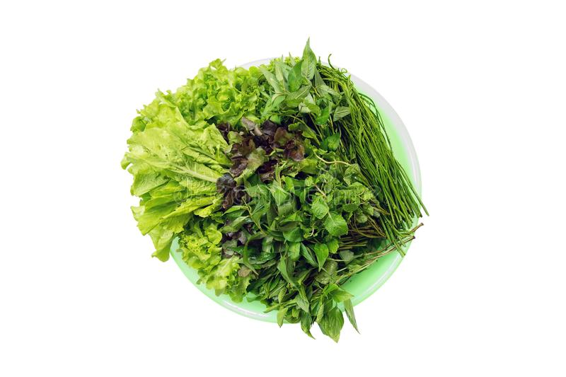 Fresh vegetables are available in the tray royalty free stock photo