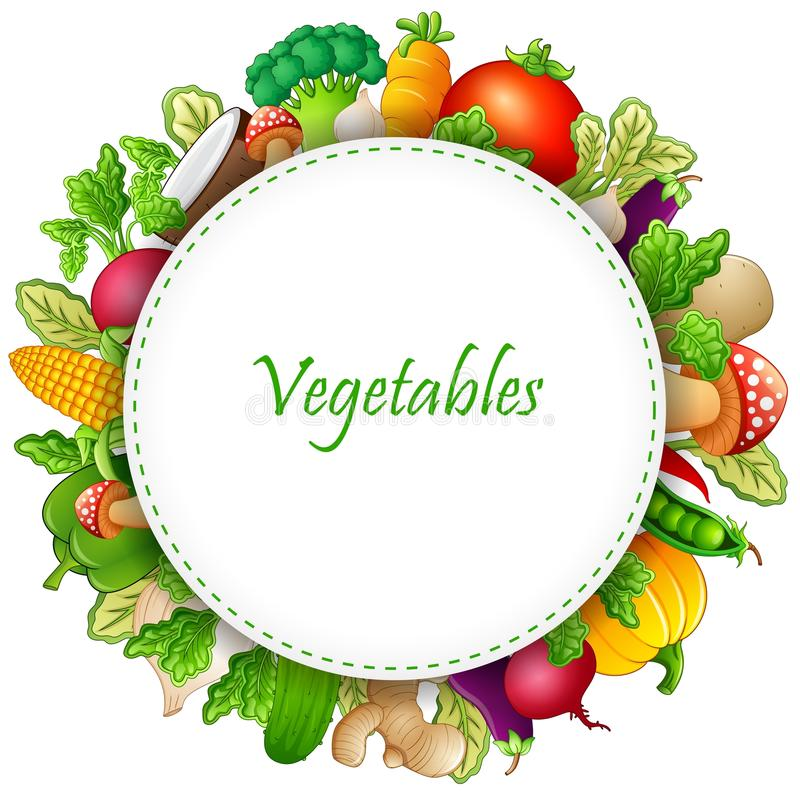 Fresh vegetables cartoon royalty free illustration