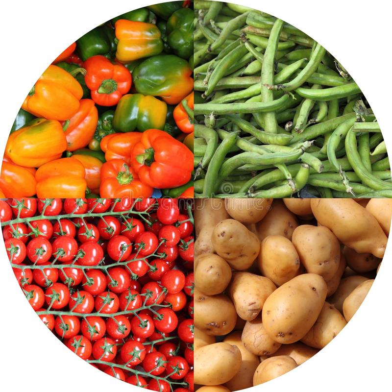 Fresh vegetables collage royalty free stock images