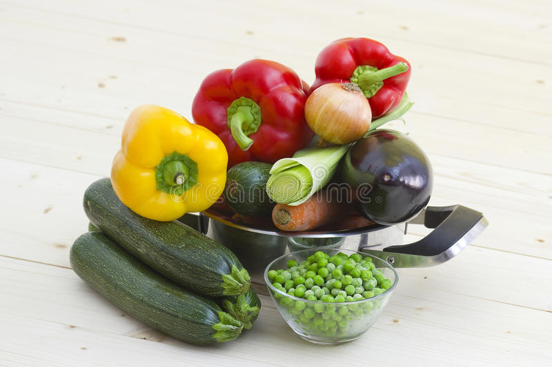 Fresh Vegetables In A Cooking Pot Royalty Free Stock Photo