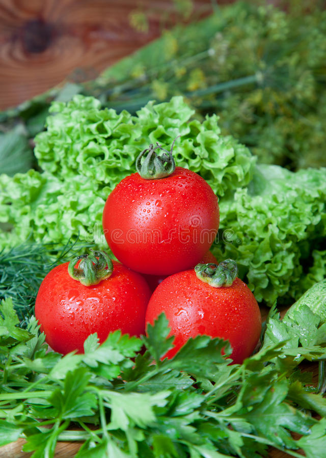 Download Fresh Vegetables On Cutting Board. Royalty Free Stock Photography - Image: 26623497