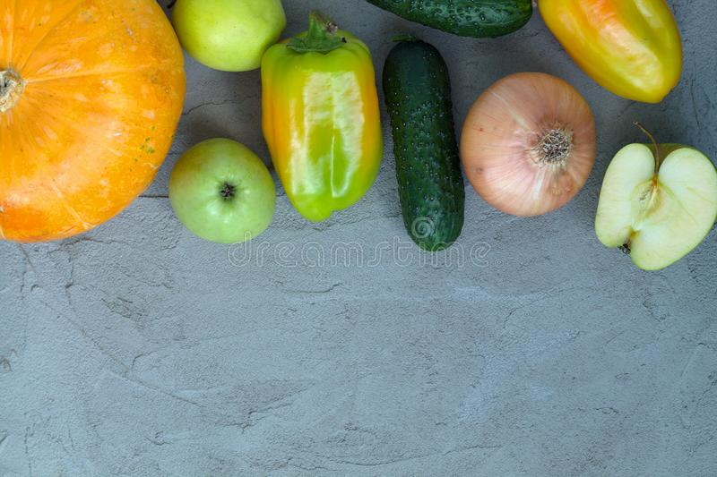 Fresh vegetables on a cutting board. royalty free stock image