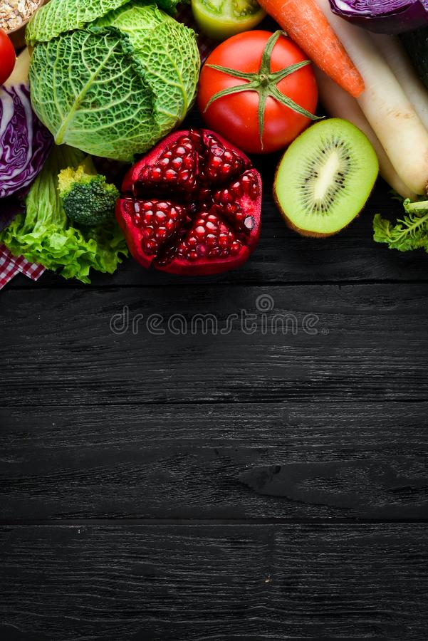 Fresh vegetables and fruits. stock images