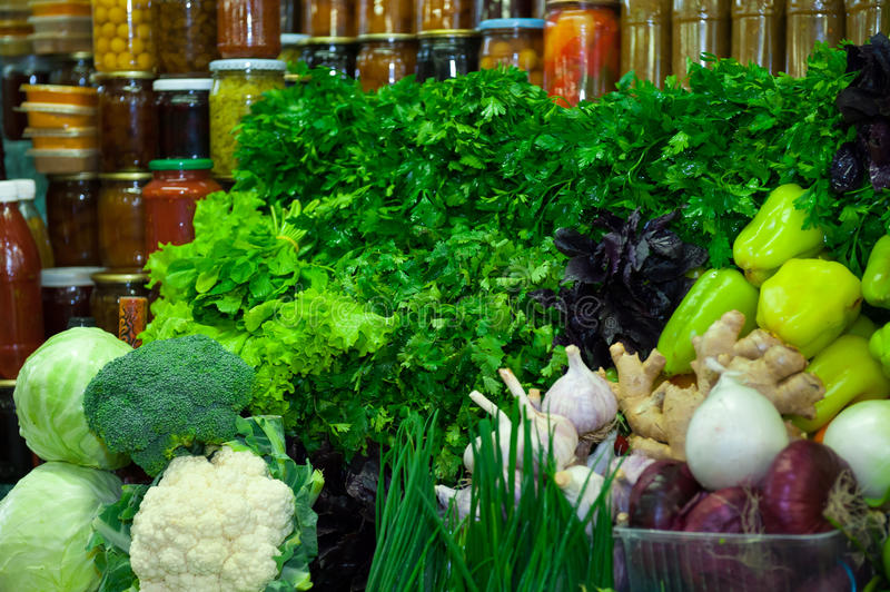 Download Fresh Vegetables And Greens Stock Image - Image of groceries, vegetables: 33871849