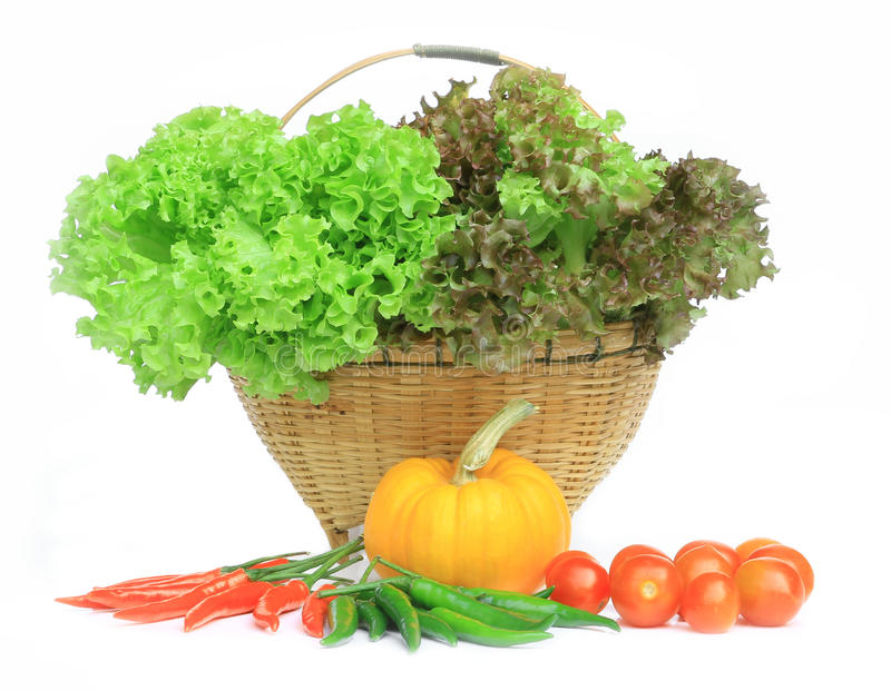 Fresh vegetables isolate royalty free stock photo
