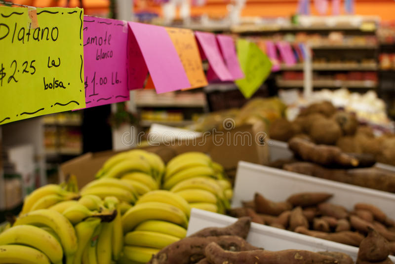Fresh vegetables at a mexican supermarket royalty free stock photo