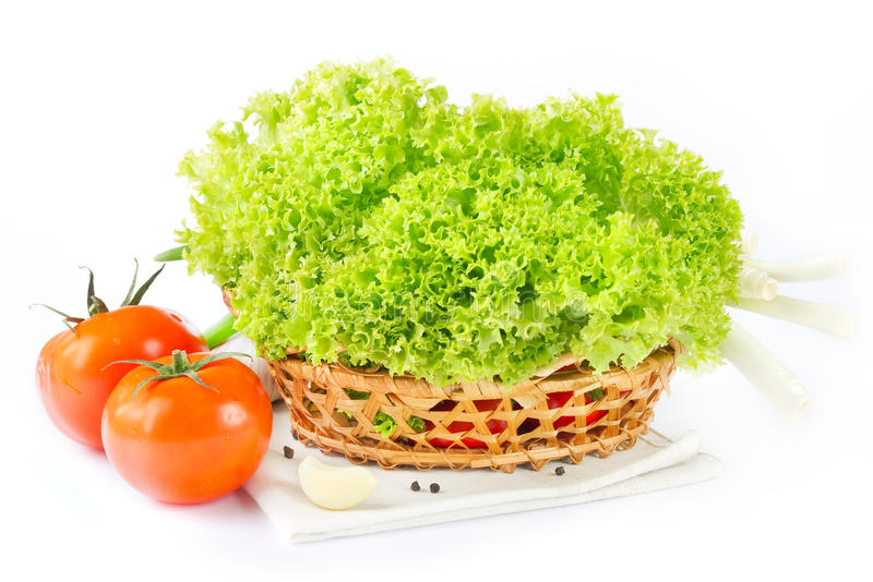 Fresh vegetables and salad stock images