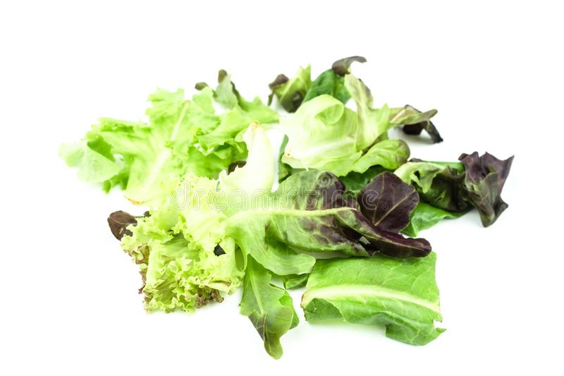 Fresh vegetables salad mix isolated on white background royalty free stock photography