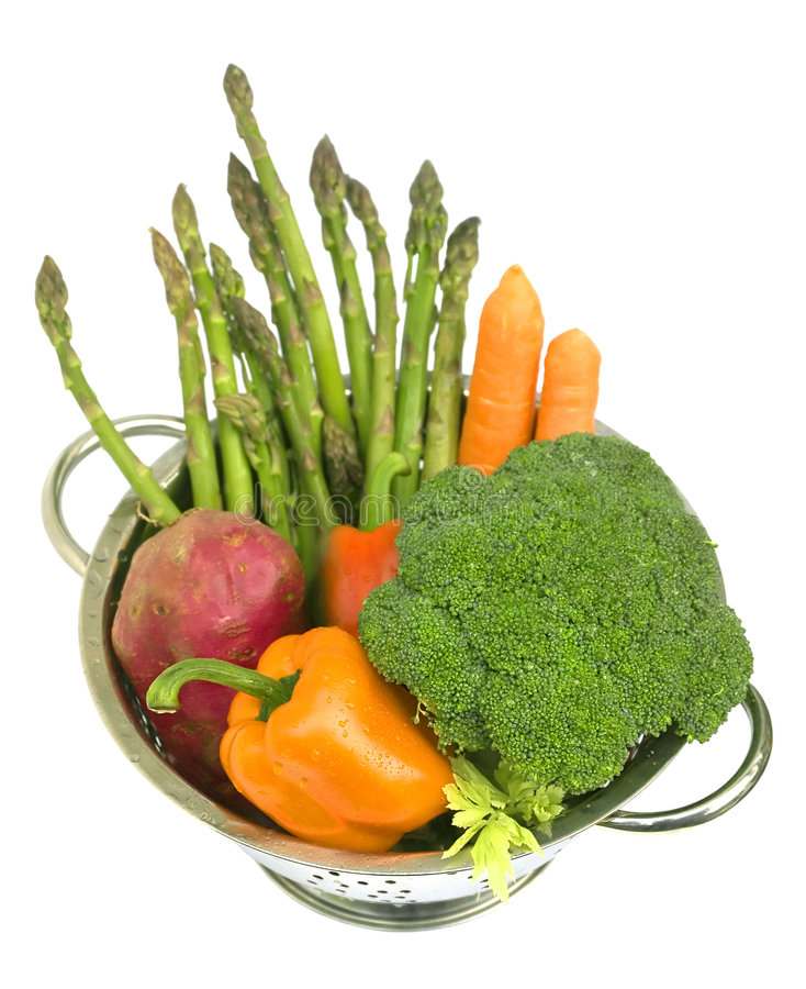 Fresh Vegetables With Water Dr Royalty Free Stock Photo