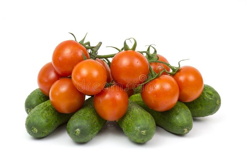 Fresh vegetables on white stock photography