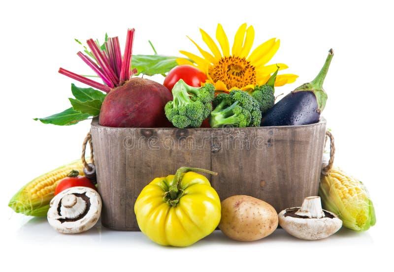 Download Fresh Vegetables In Wooden Basket Stock Image - Image: 43058137