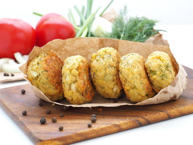 Homemade chickpea Falafel balls stock image