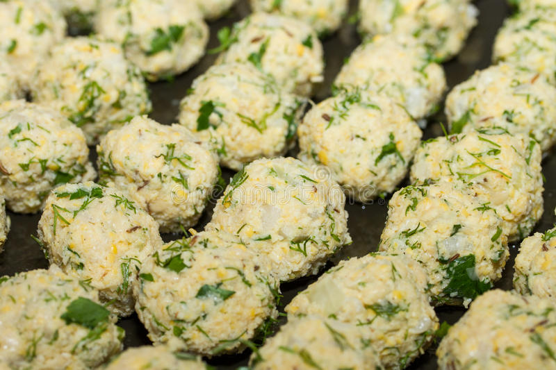 Fresh vegetarian falafel balls, middle eastern food. royalty free stock photo