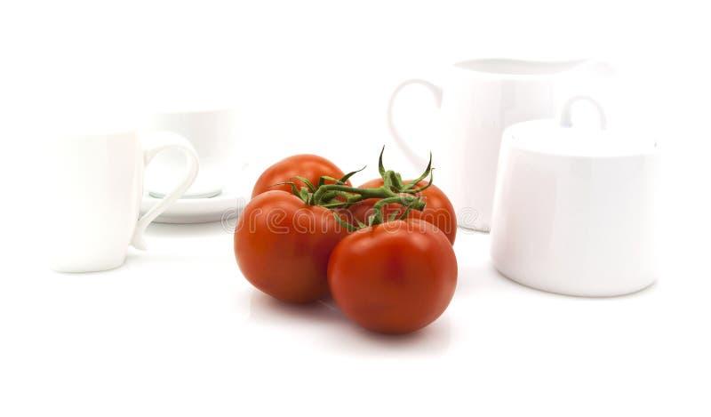 Fresh Vine tomatoes royalty free stock photos